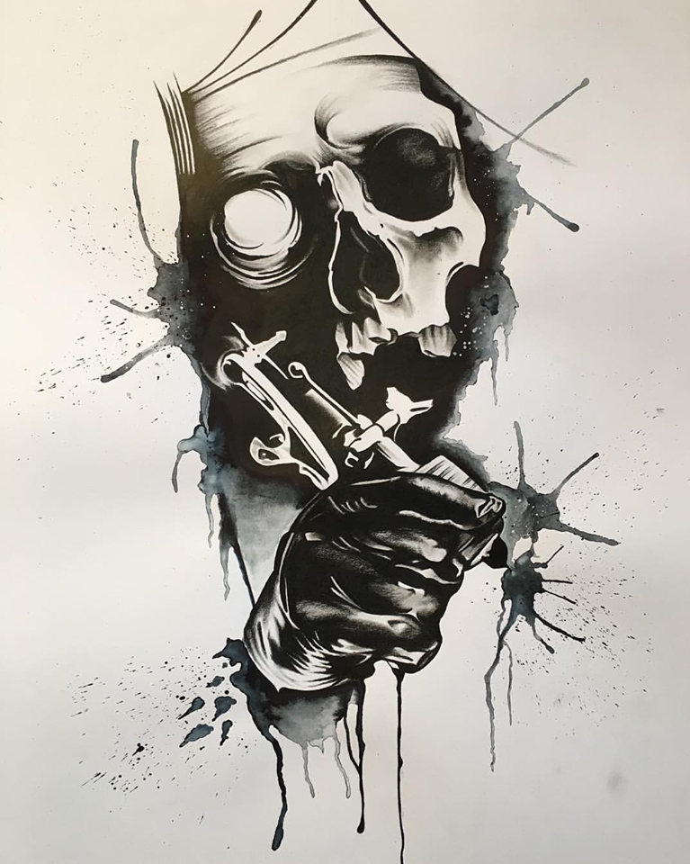 Pascal Carstensen – Skull Skizze